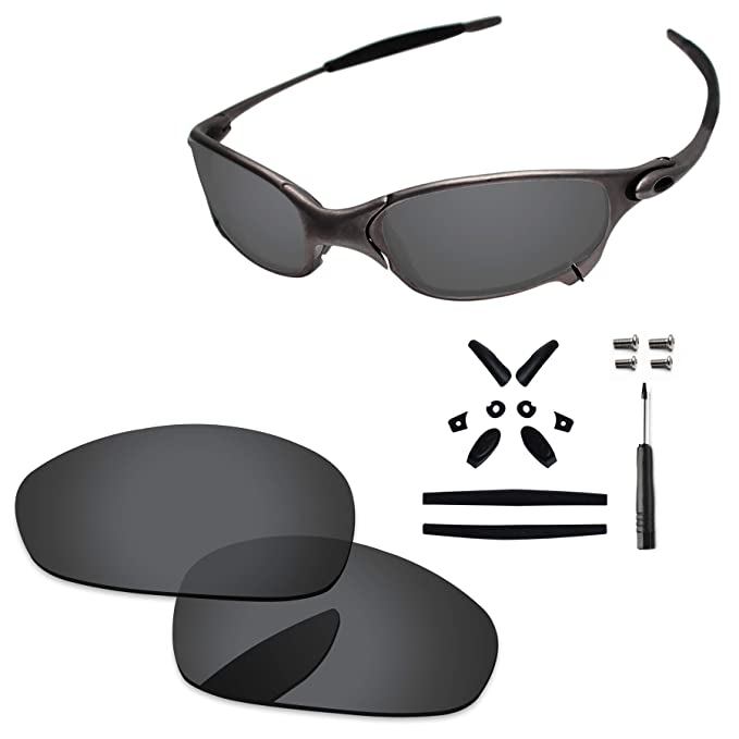 80159812aa PapaViva Lenses Replacement   Rubber Kits for Oakley Juliet Black Grey