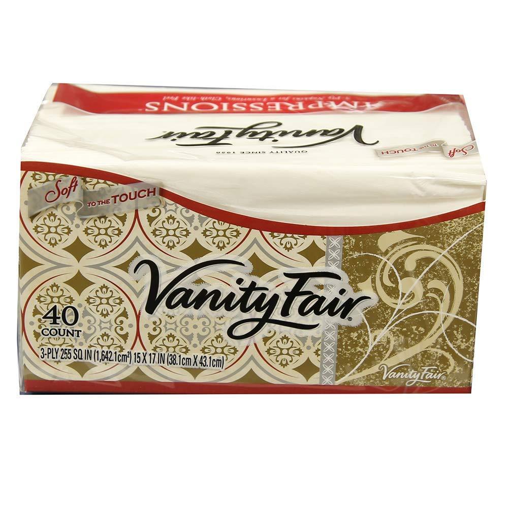 Vanity Fair Dinner Napkins, Pre Folded, 40 CT (1)