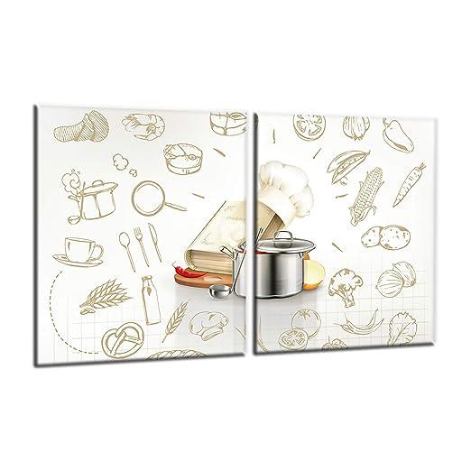 Compra decorwelt | para cubrir la vitrocerámica comer Beige ...