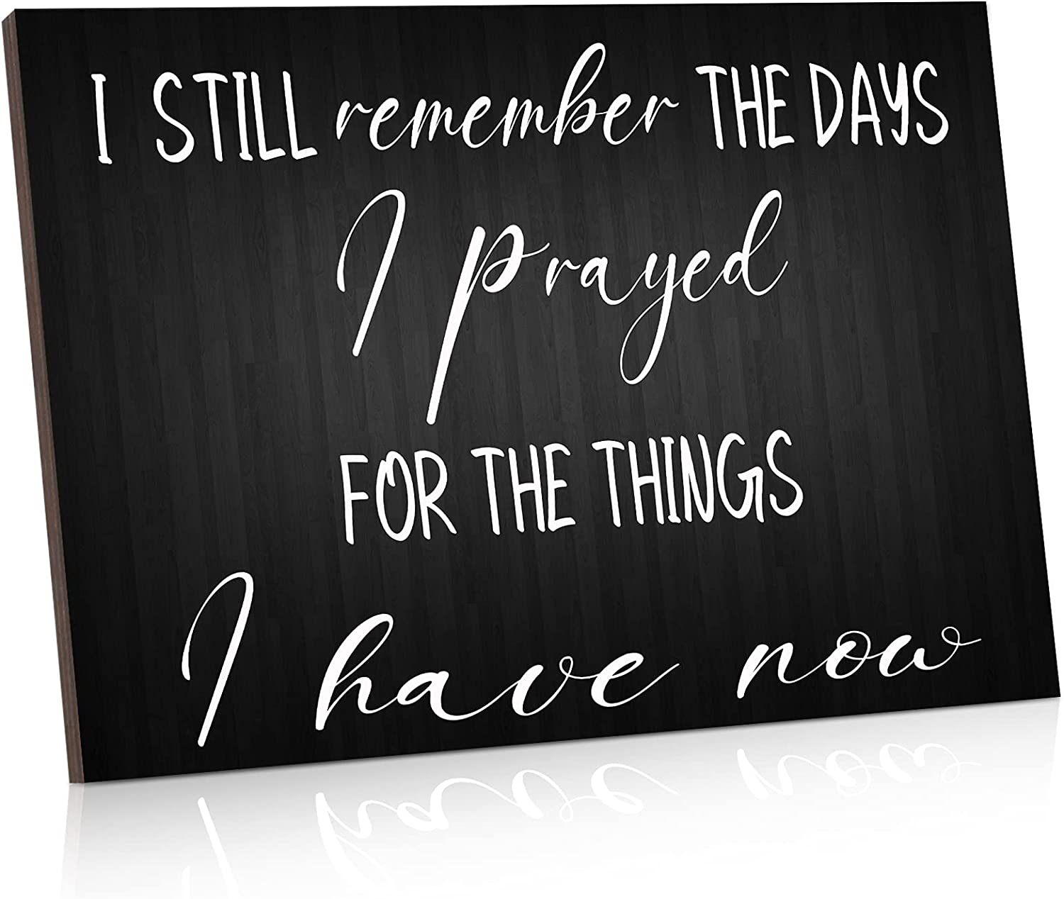 I Still Remember the Days I Prayed Wooden Hanging Wall Plaque Christian Wall Art Decor Inspirational Home Motivational Wood Decor for Living Room Bedroom Kitchen Meditation Room, 10 x 6 x 0.2 Inch