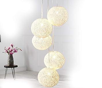 Dunord Design Hangelampe Pendellampe Kugellampe Hanf Kugel Bozzolo