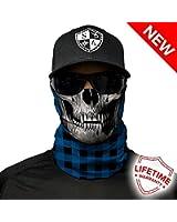 Salt Armour Face Mask Shield Protective Balaclava Alpha Defense | Blue Lumberjack Skull