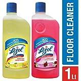 Lizol Disinfectant Floor Cleaner - 500 ml (Citrus) with Lizol Disinfectant Floor Cleaner - 500 ml (Floral)