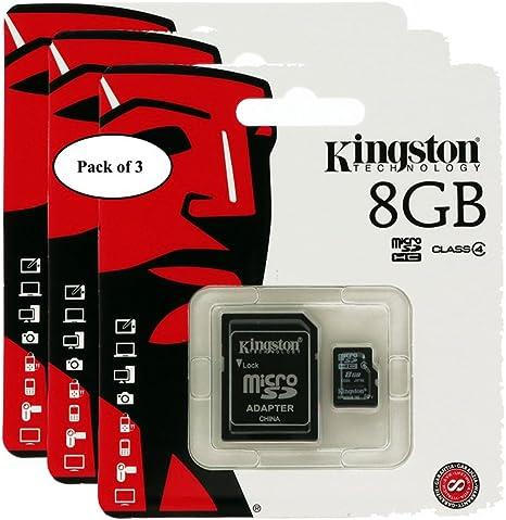Kingston - Tarjeta de Lectura Digital (8 GB, microSDHC, Clase 4 ...