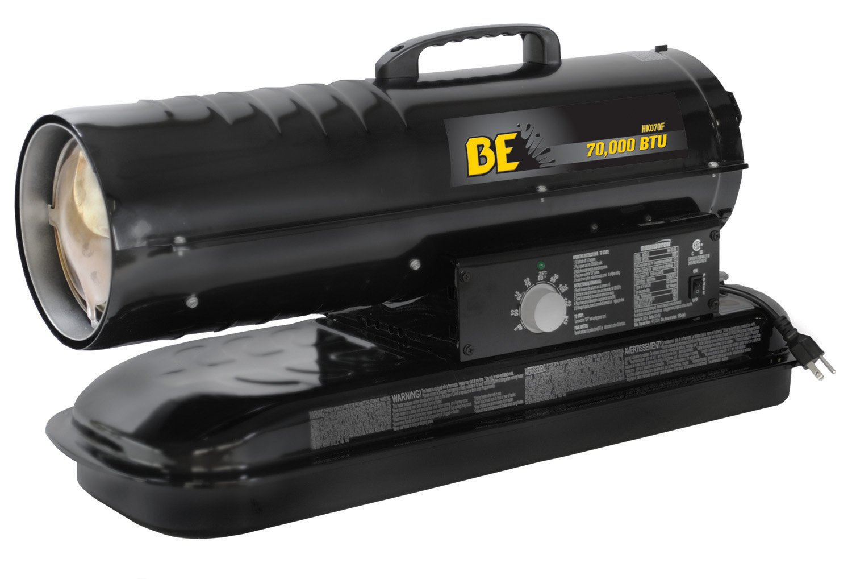 BE Pressure HK070F 70000 BTU Kerosene/Diesel Forced Air Heater, 120V