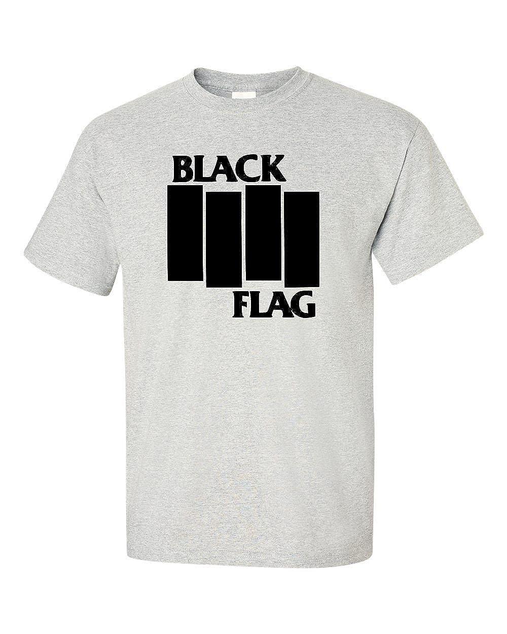 fca33b2f Men's Black Flag Logo T-Shirt: Amazon.co.uk: Clothing