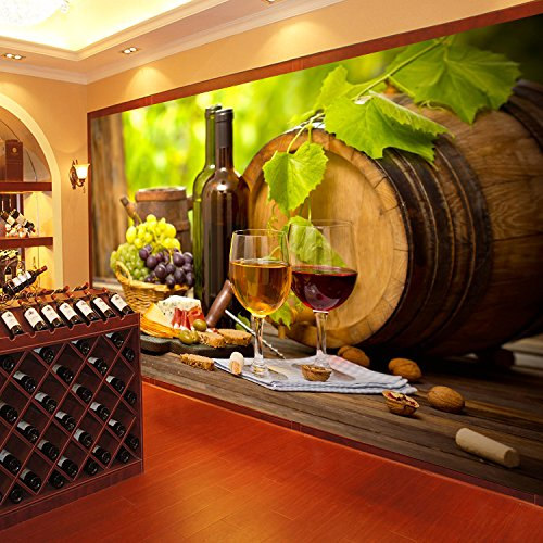 3D Barrels Grape Wine 83 Wall Paper Wall Print Decal Wall Deco Indoor wall Murals Removable Wall Mural | Self-adhesive Large Wallpaper , AJ WALLPAPER Carly ()
