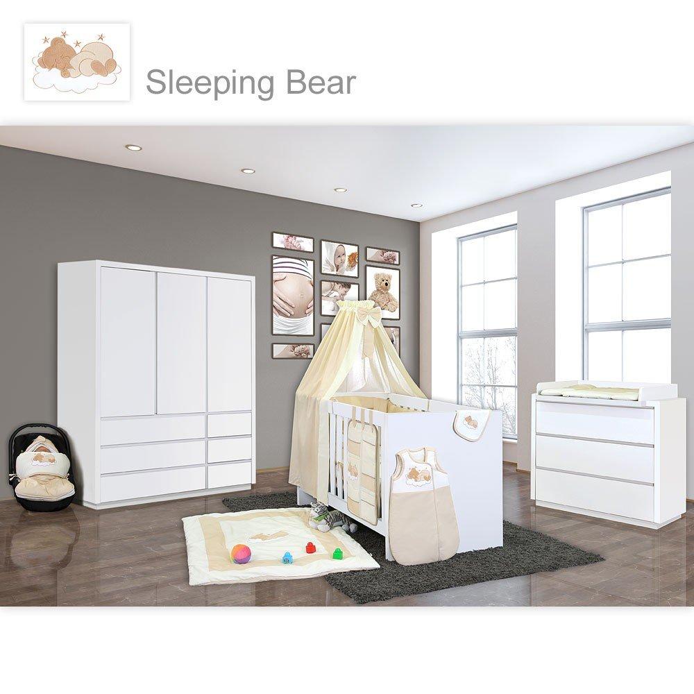 Attraktiv Babyzimmer Atlanta In Weiss 10 Tlg. Mit 3 Türigem Kl. + Sleeping Bear Beige  Jetzt Bestellen