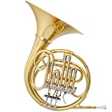 Jazzor® Brass Wind Instruments Professional French Horn B Flat Model No. JZFH-210 Gold lacquer