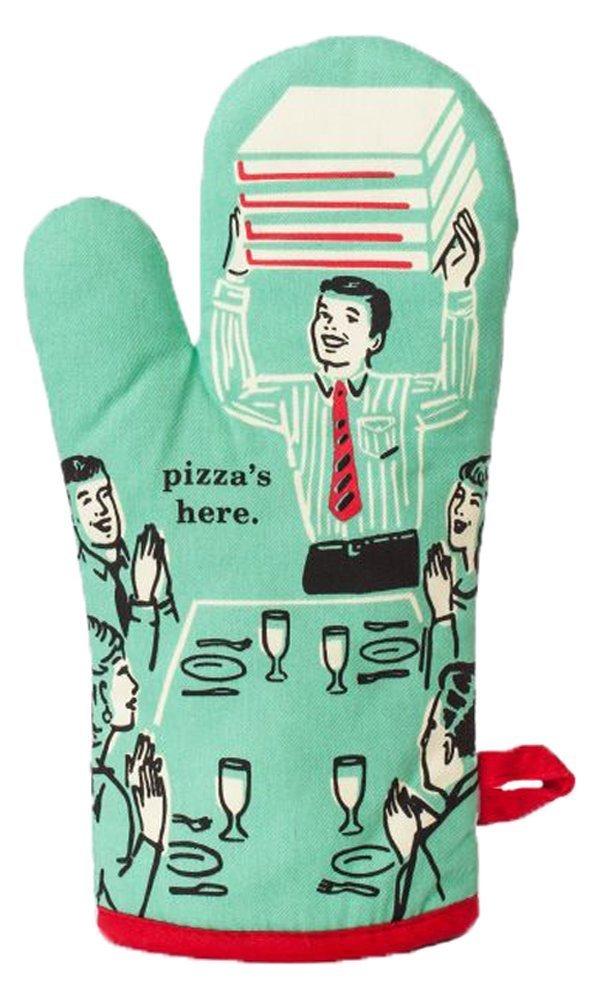 """Blue Q Oven Mitt """"Pizza's Here!"""""""