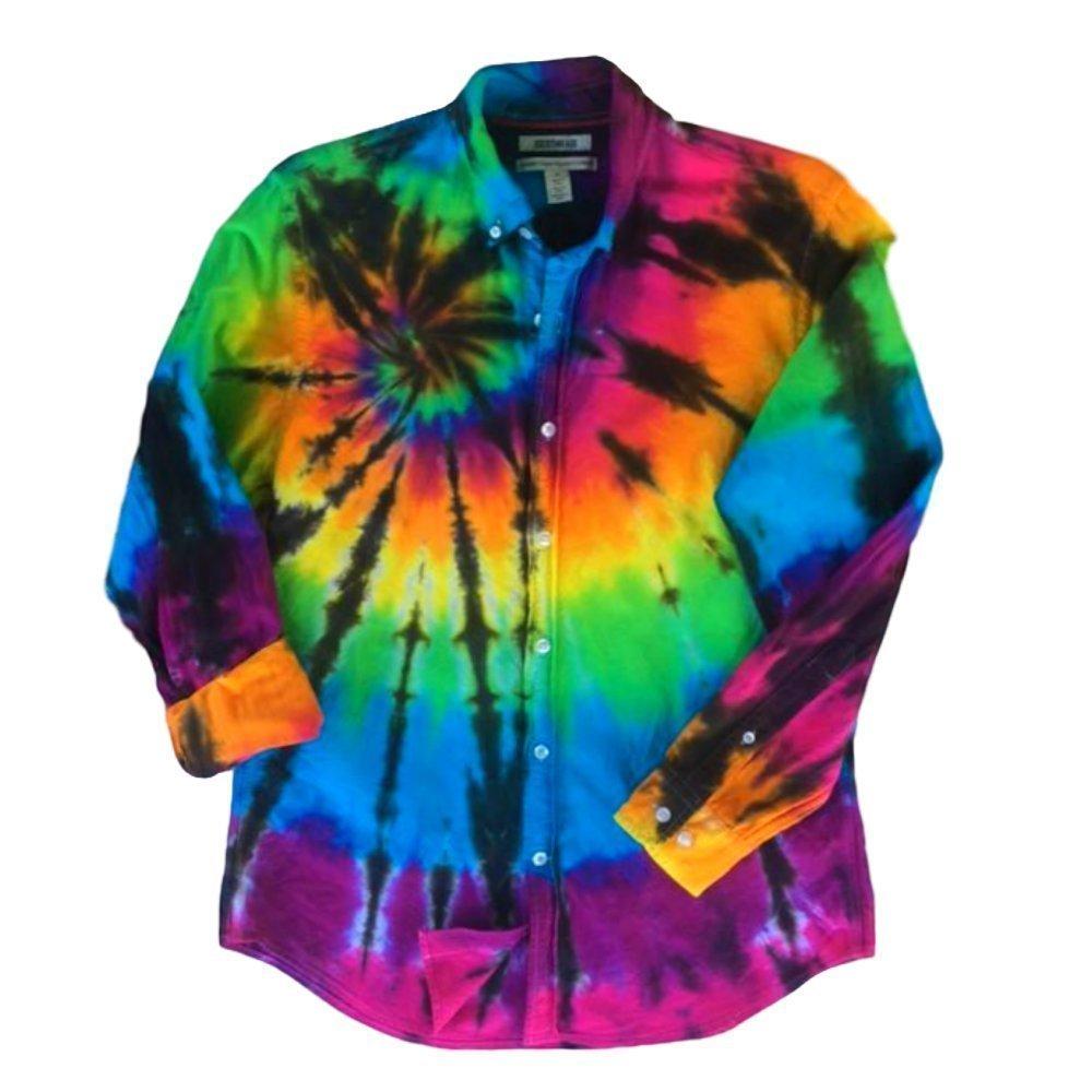 Rainbow Tie Dye Oxford Shirt