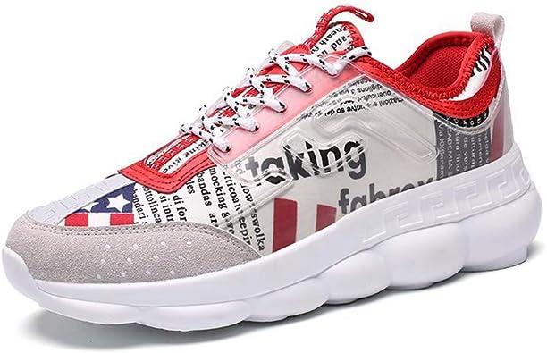 Zapatillas De Deporte para Hombre Zapatillas De Deporte De Lona con Cordones para Hombre Low Top Hombre Tobillo Confort Al Aire Libre Gimnasio Entrenadores AtléTicos: Amazon.es: Zapatos y complementos