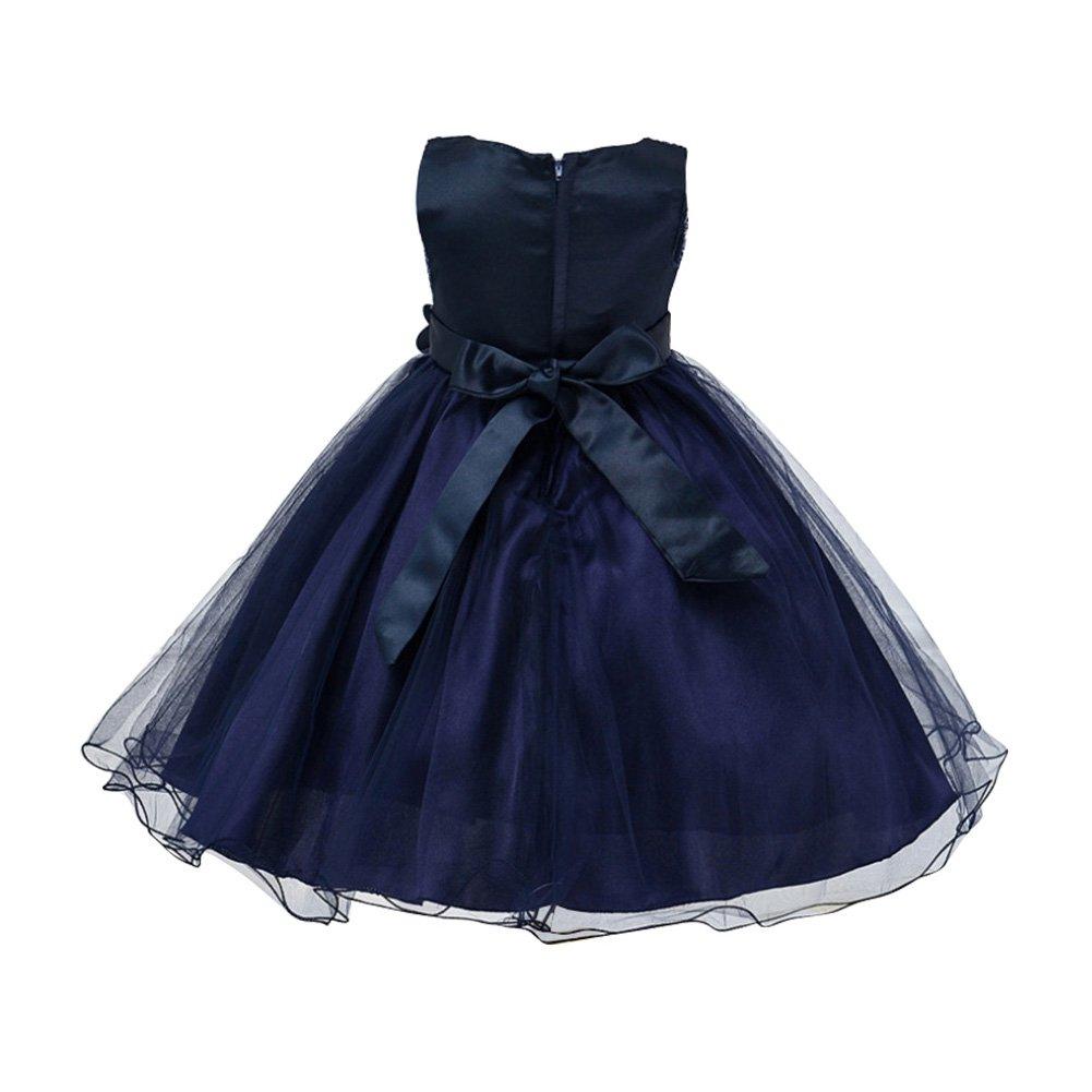 6e6bb5fe733c7 EXIU Enfants filles paillettes fleur bowknot Robe de Mariage 3-10 Ans   Amazon.fr  Vêtements et accessoires