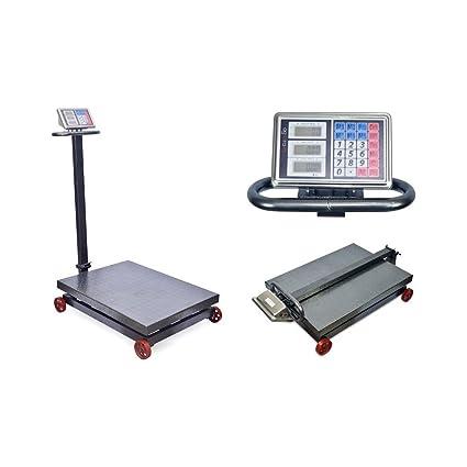 Bascula Industrial de 1000Kg Balanza Plataforma 60x80Cm Reforzada y Plegable