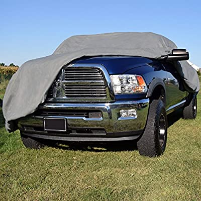 Budge Duro Truck Cover Fits Extended Cab Long Bed Pickups up to 249 inches Polypropylene, Gray TD-4X