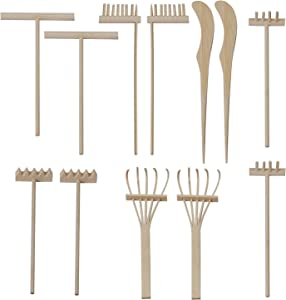 KEILEOHO 12 PCS Mini Zen Garden Rakes, DIY Sand Zen Garden Tools for Office, Tasteful and Elegant Zen Garden Accessories for Home Gift Garden Decor Serenity and Spiritual Meditation