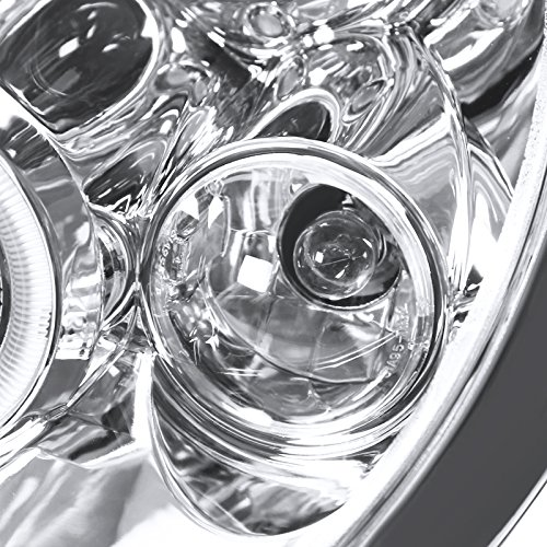 Halo Led Spec-D Tuning 2LHP-MINI01-TM Chrome Projector Headlight
