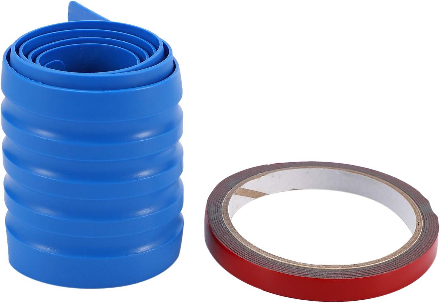 Blue Nrpfell Car Universal Trunk Bar Bumper nti-Collision nti-Rubber Tailgate Trim Strip Sill Rear Guard Sticker