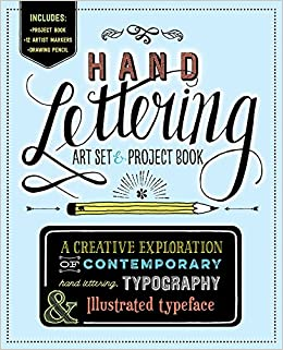 hand lettering art set project book