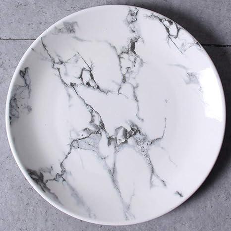 Plato De Porcelana China Patrón De Mármol China Porcelana ...