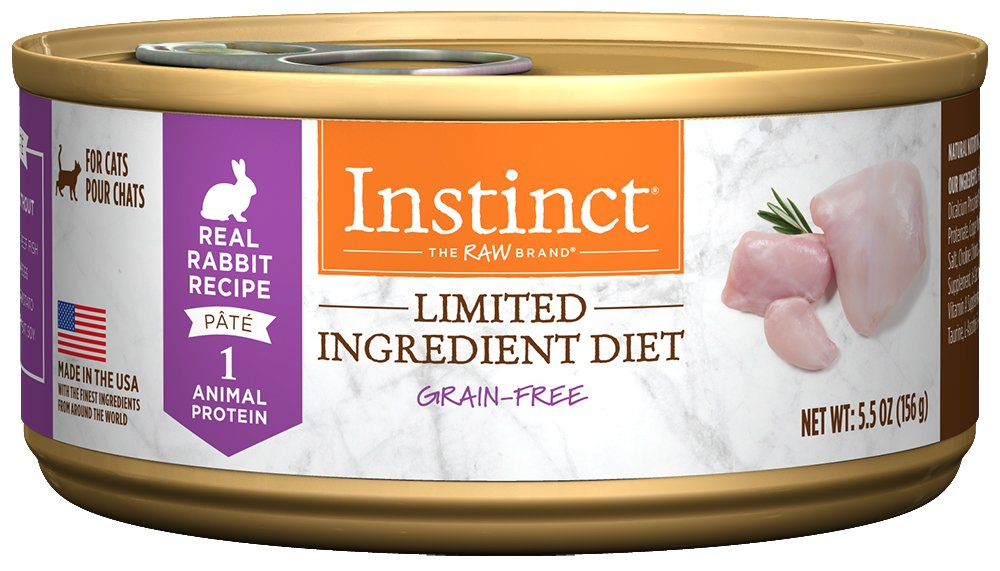 Instinct Limited Ingredient Diet Grain Free Real Rabbit Recipe Natural Wet Canned Cat Food by Nature's Variety, 5.5 oz. Cans (Case of 12)