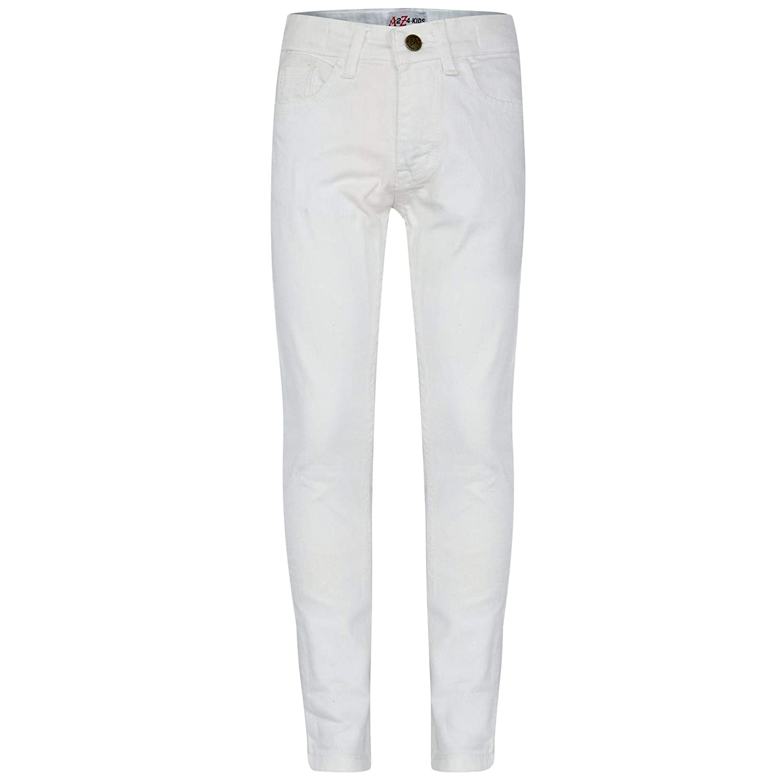 A2Z 4 Kids Bambini Ragazze Skinny Jeans Bianco Progettista Denim Elastico Pantaloni Moda Fit Pantaloni Nuova Et/á 5 6 7 8 9 10 11 12 13 Anni
