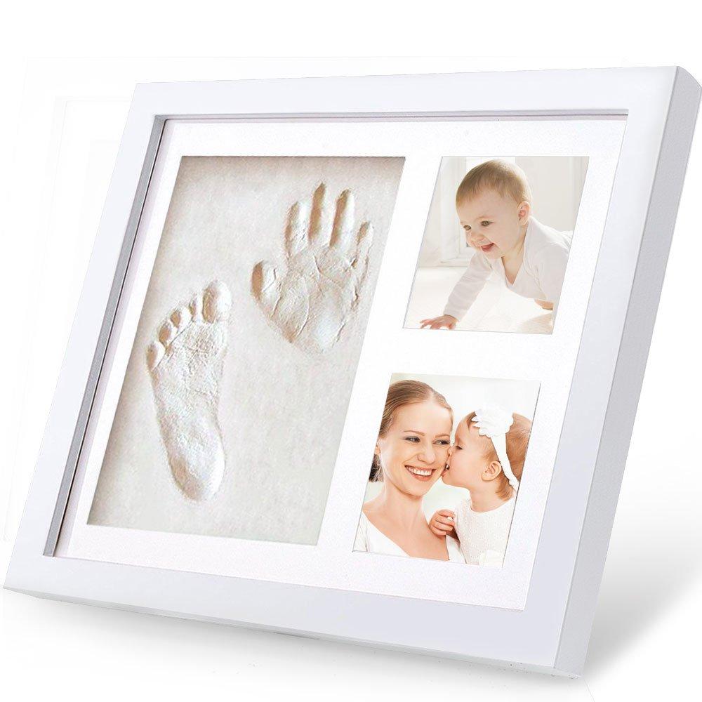 Amazon.de: Baby Handabdruck und Fußabdruck, Migimi Baby Bilderrahmen ...