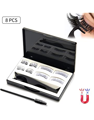 dceb34783af Lcat Magnetic Eyelashes, 8 PCS 3D Silk Lashes Handmade Ultra Thin and  Reusable False Eyelashes