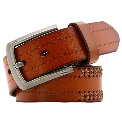 Saoye Fashion Cinturón De Cuero Real Para Hombre Cinturón ...