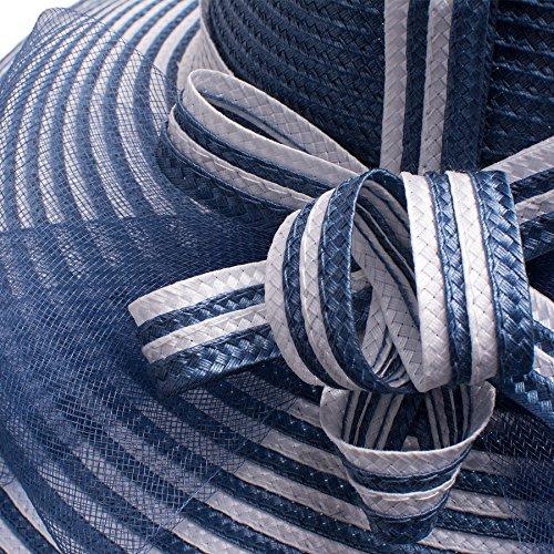 Party blue Wedding Church Hat A490 Lawliet Derby Navy Kentucky Brim Wide Womens Tea Ow7IUpYq