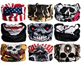 Best Face Shields - Landisun Headband Skulls Set2 9PCS Face Shield Bandanas Review