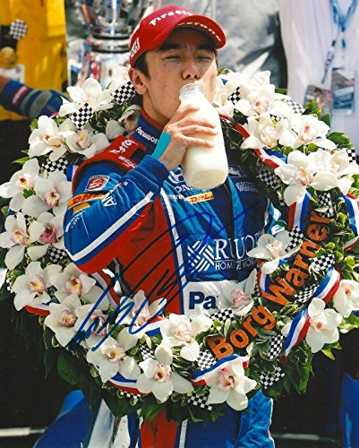 TAKUMA SATO signed 8x10 INDY 500 MILK photo IRL INDY with COA C - Autographed Extreme Sports Photos ()