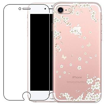 a9d1674f89b Funda iPhone 7, iPhone 8 Cover [con Protector de Pantalla de Vidrio  Temperado]