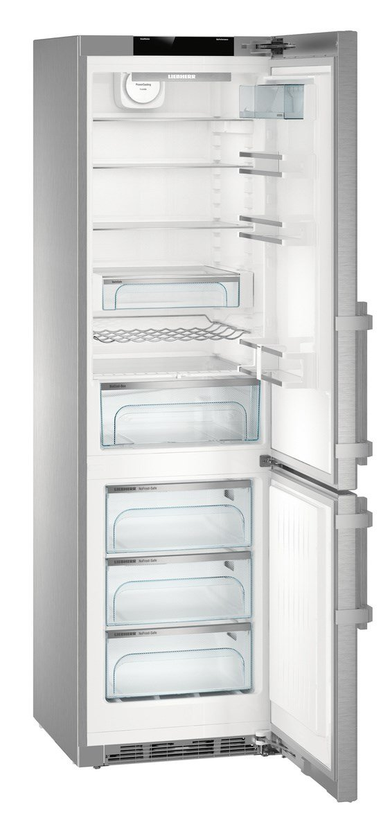Good Liebherr Cbnpes 4858 Freestanding 344L A + + + Stainless Steel Fridge And  Freezer   Freestanding Fridge Freezer, Stainless Steel, Right, Touch, TFT,  ... Great Pictures