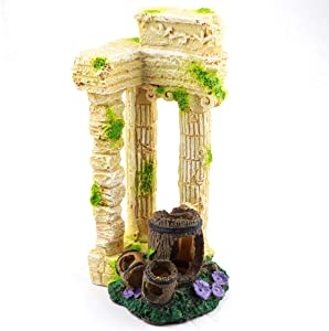 Aqua KT Fish Tank Roman Columns Pillar with Broken Can Decoration for Aquarium Landscaping