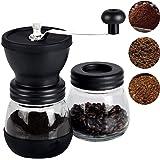 MEKBOK Manual Coffee Grinder, Top Quality, Stainless Steel, Fortified Glass, Ceramic Core, Adjustable Grinder, Make Fresh Cof