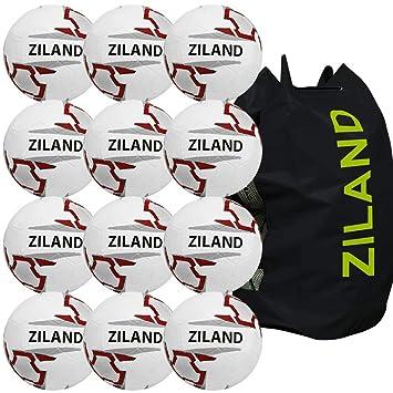 Ziland balón de fútbol Moldeado • 12 Unidades • Incluye Bolsa de ...
