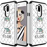 LG G7/G7 ThinQ Glitter Case and Screen Protector,QFFUN Bling Crystal Rhinestone Diamonds Soft Silicone Inner + Hard Plastic Back Hybrid Double Layer 2 in 1 Shockproof Anti-scratch Mobile Phone Protective Cover for LG G7/G7 ThinQ Case - Unicorn