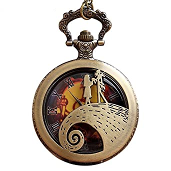 Gorben vintage nightmare before christmas quartz pocket watch casual nightmare before christmas pocket watch hollow steampunk necklace watch unisex gifts reloj de bolsillo mozeypictures Images