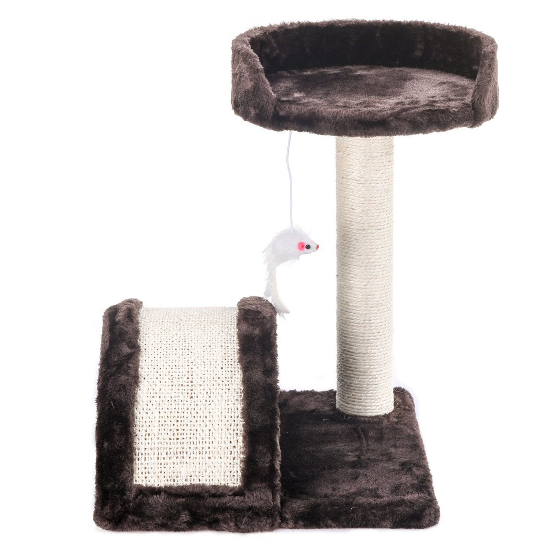 "17"" Action Club Cat Tree with Wave Scratching Pad Post Kitten Bed"