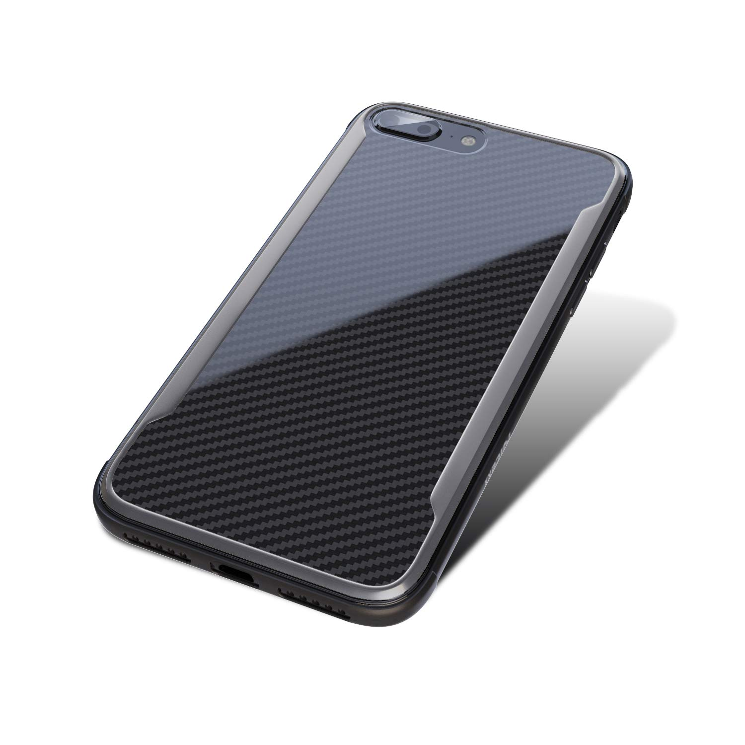 Black Shockproof 12ft Scratch Resistant Lightweight Compatible with Apple iPhone 7 Plus//8 Plus iPhone 7 Plus Case Carbon Fiber Case Drop Tested iPhone 8 Plus Case Wireless Charging
