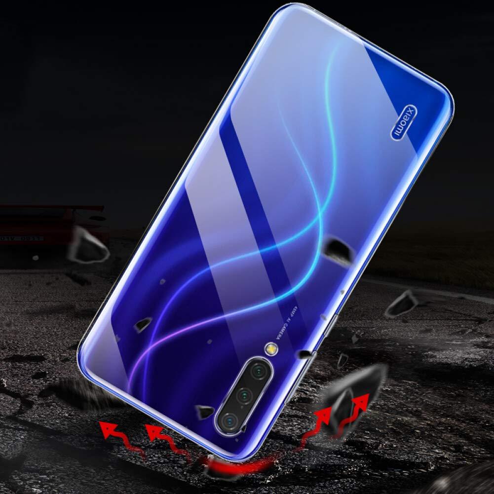 AILRINNI Coque pour Xiaomi Mi 9 Lite + Verre trempé Protection écran, Souple Etui Transparente Silicone TPU Bumper Housse de Protection pour Mi 9 Lite