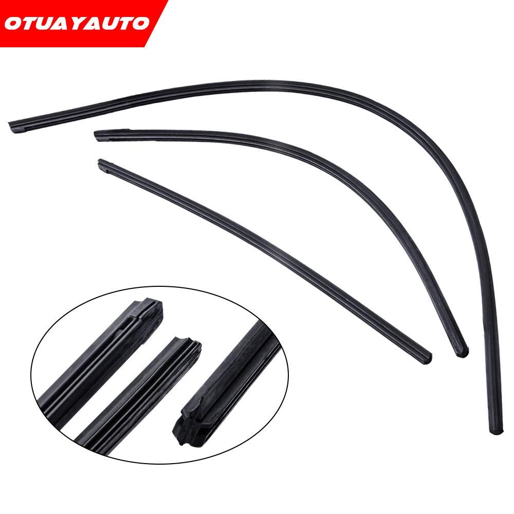 For Honda CR-V CRV 2007-2011, OTUAYAUTO Front and Rear Wiper Blade Refills (9mm)