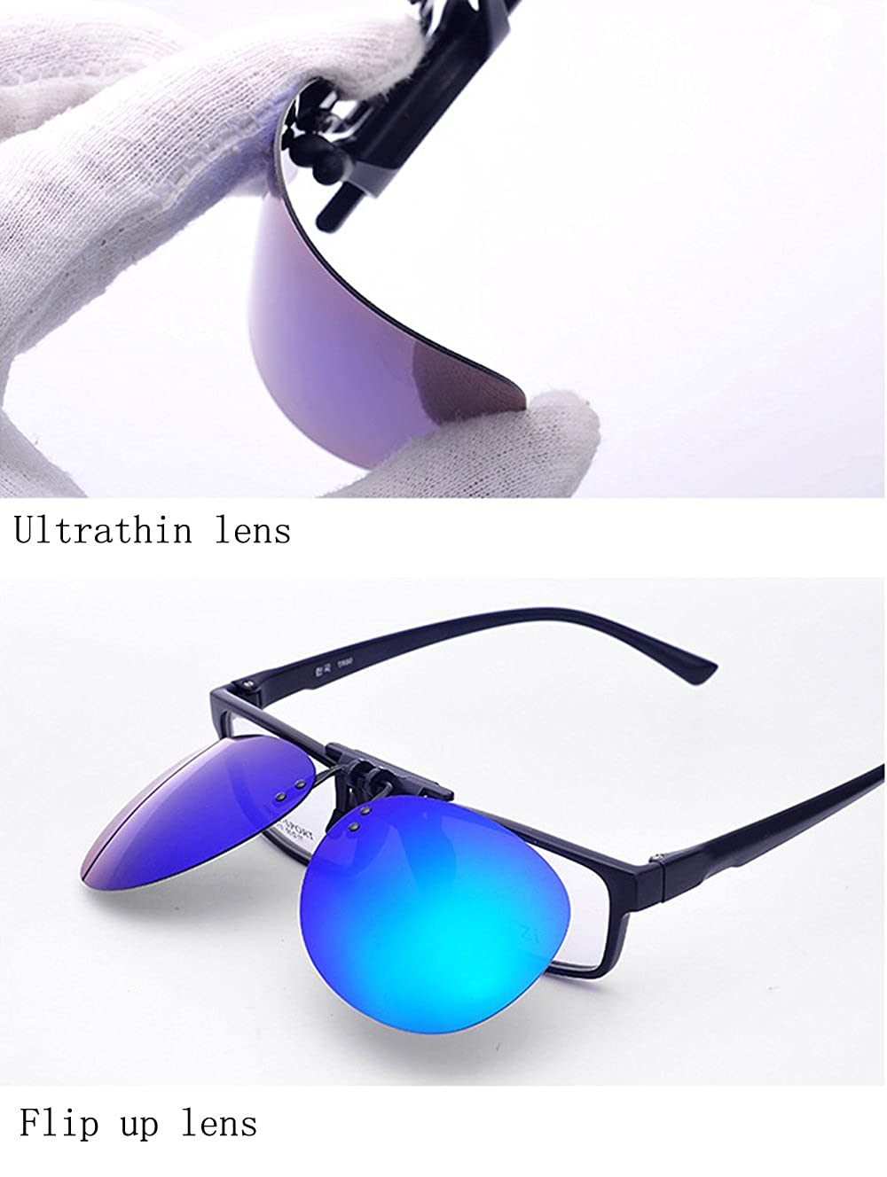 bffcc122fba ... Clip On Sunglasses Mens Titanium Flexible Polarized Lenses Glasses  Laura Fairy 55) ...