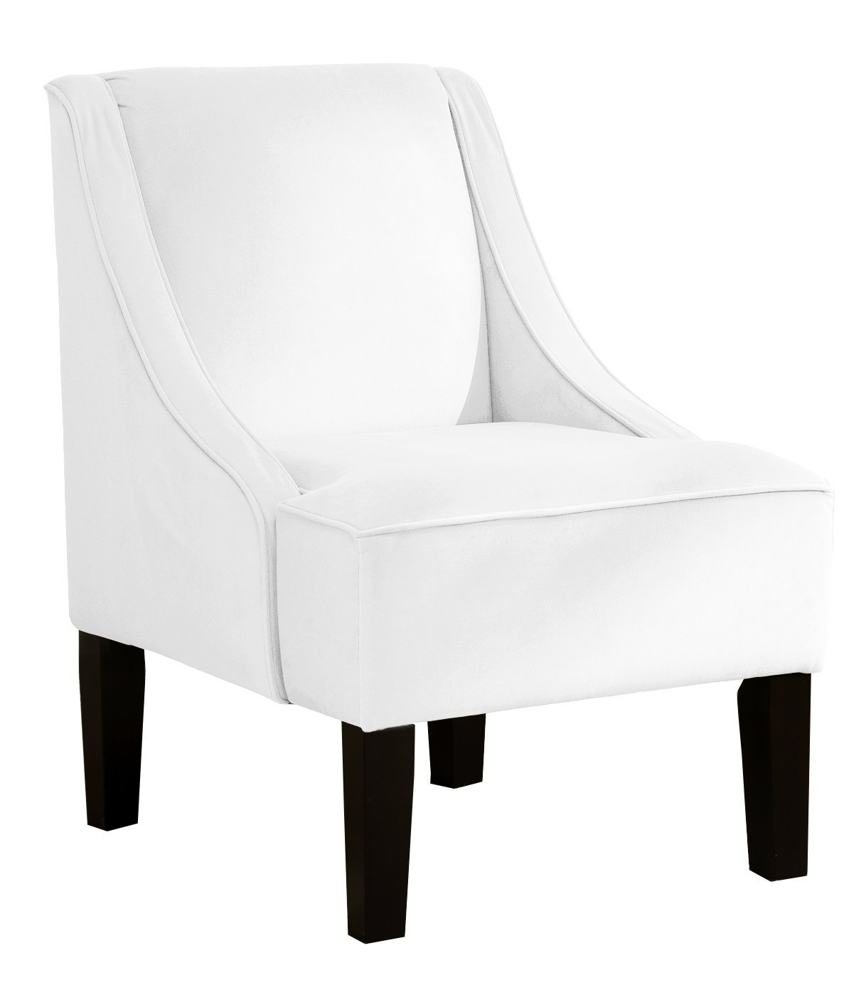 Awesome Amazon.com: Skyline Furniture Swoop Arm Chair In Velvet White: Kitchen U0026  Dining