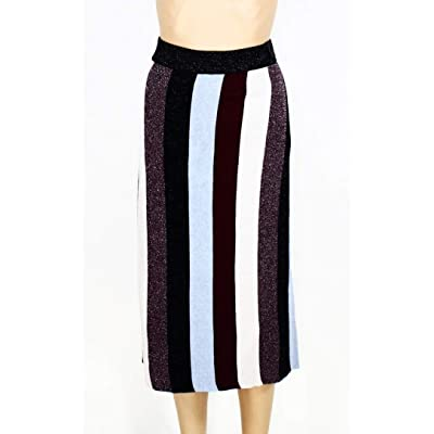 INC Womens Skirt Blue Plus Striped Shimmer Stretch Purple 3X at Women's Clothing store