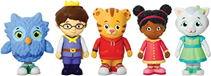 5 Pack Daniel Tiger/'s Neighborhood Friends Family Figure Poseable Arms Kids Toys
