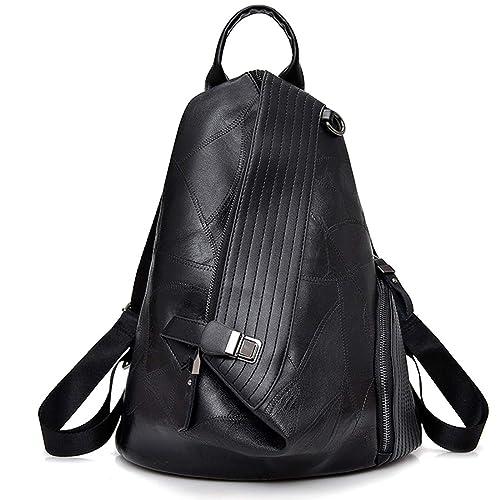 Leparvi PU Leather Backpack for Women Crossbody Bag Fashion Backpack (Black) bcf36344b28c4