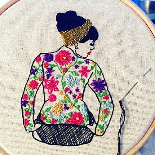 Modern Embroidery Kit Spring Tattooed Lady Amazon Handmade