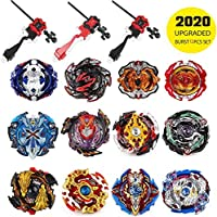 infinitoo Set of 12 Battling Top Bey Burst | Fighter Gyroscope 4D Fusion Model | Burst Evolution Combination Series 3…